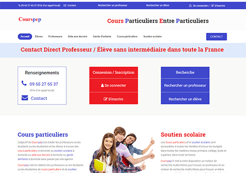 Courspep.fr : Cours particuliers entre particuliers